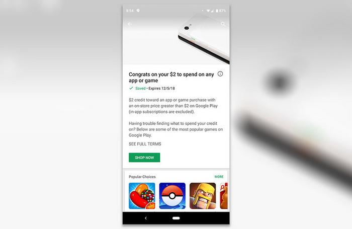 У Google Play деяким користувачам роздають гроші 1fcd66b9e30b9