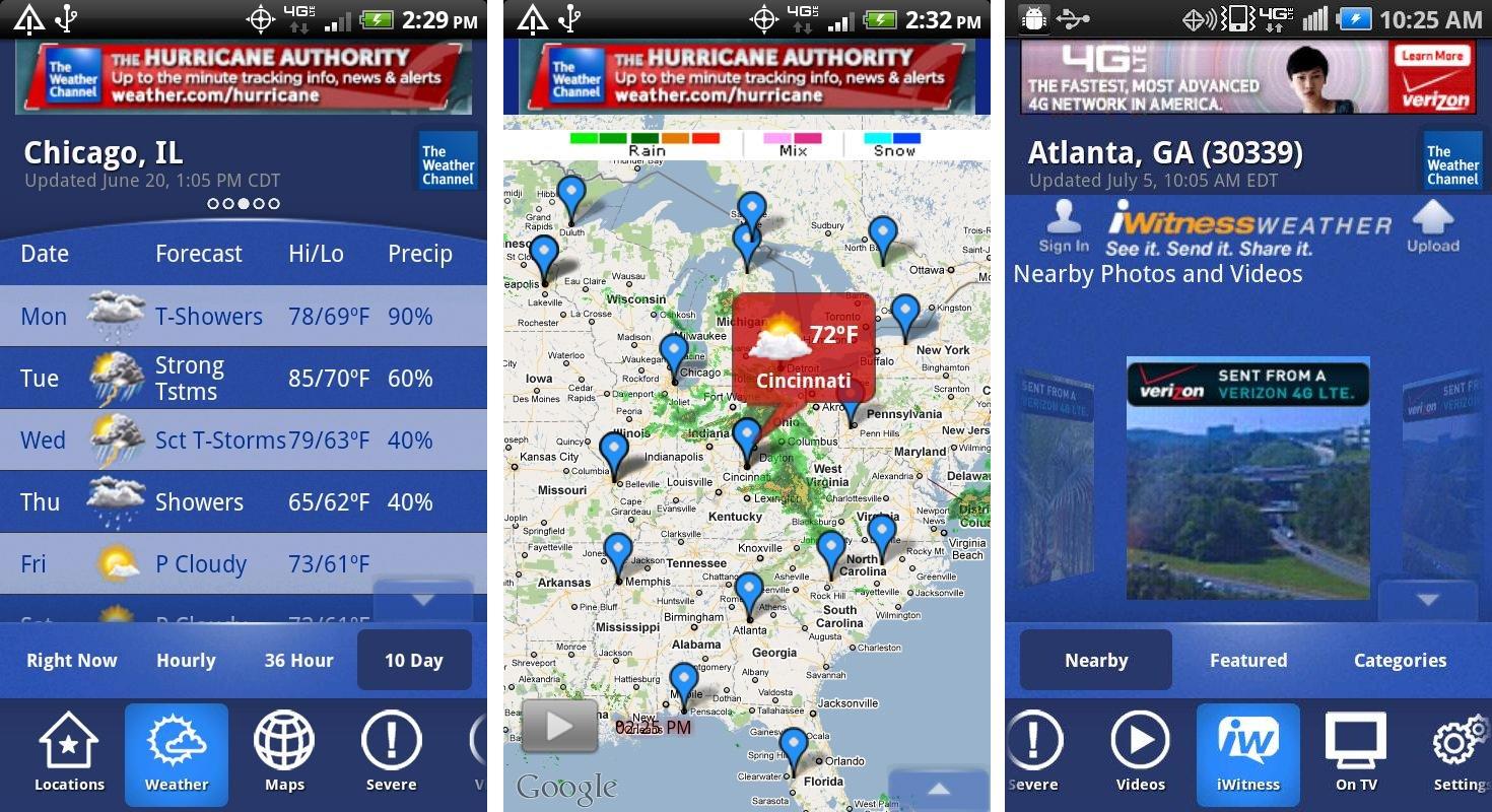 5 бесполезных приложений, которые лучше удалить с Android – Погодные приложения скрины