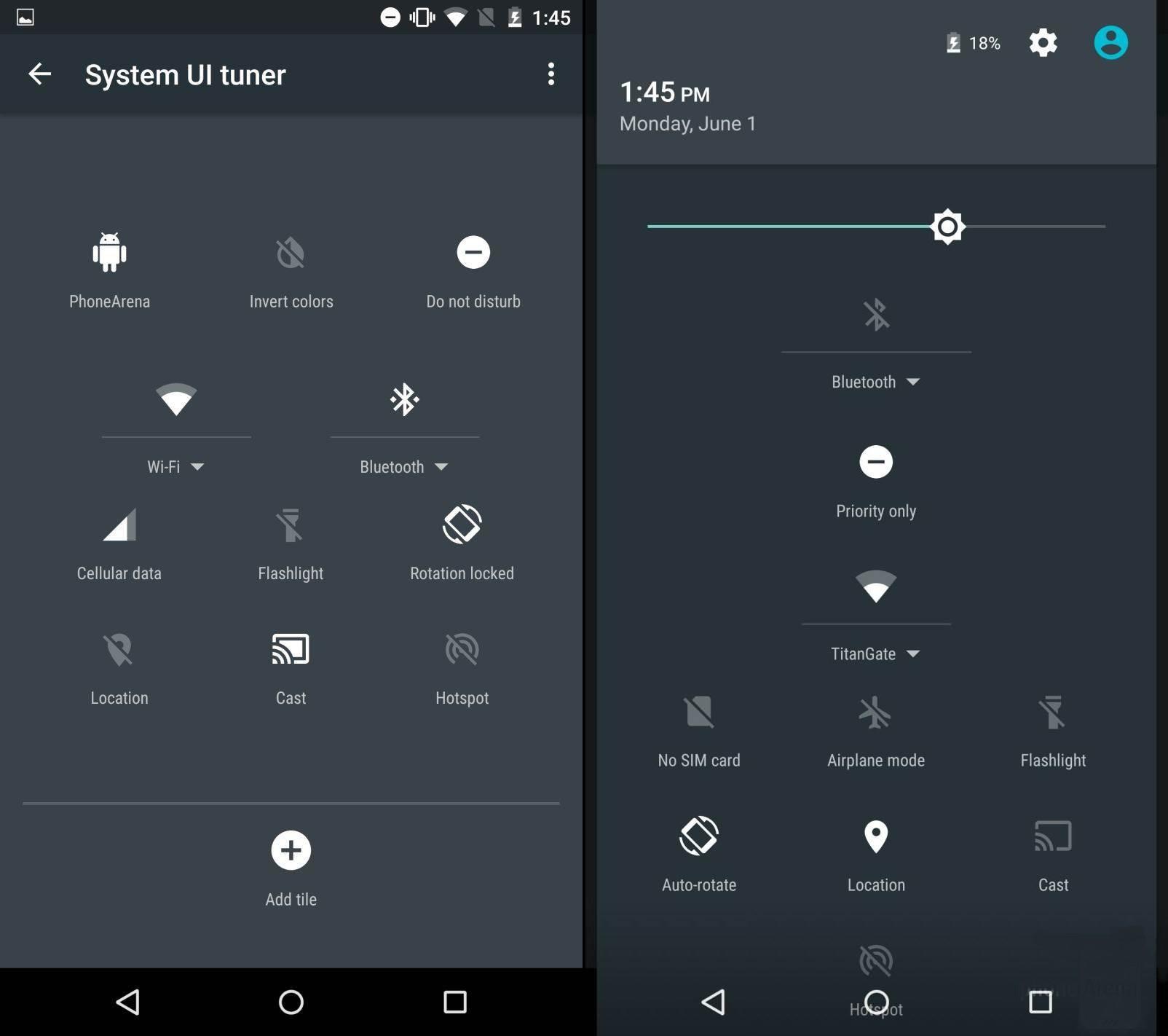 5 раздражающих особенностей Android Lollipop - Настраиваемые быстрые переключатели