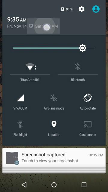 Android 5.0 Lollipop - Быстрый доступ к будильнику