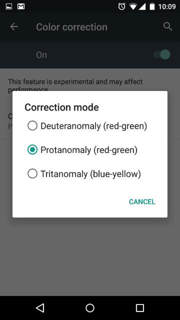Android 5.0 Lollipop - Встроенная коррекция цвета