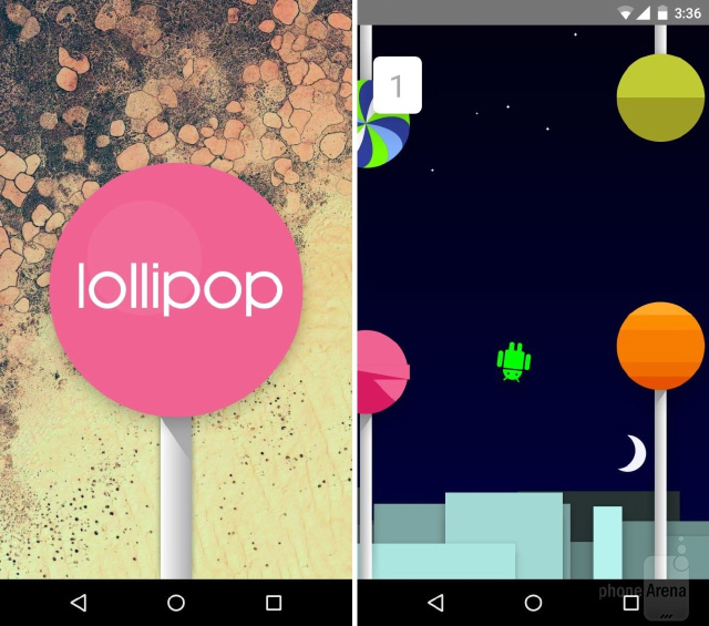 Android 5.0 Lollipop - пасхалка