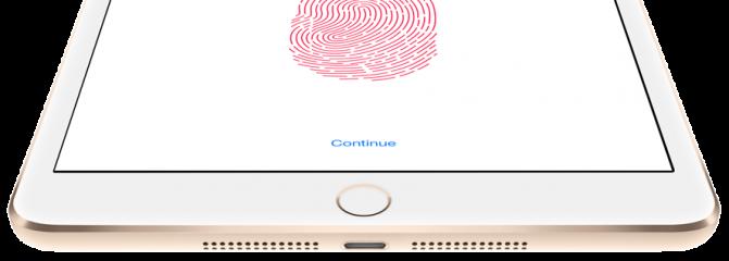 Apple iPad mini 3-сенсор отпечатков пальцев Touch ID
