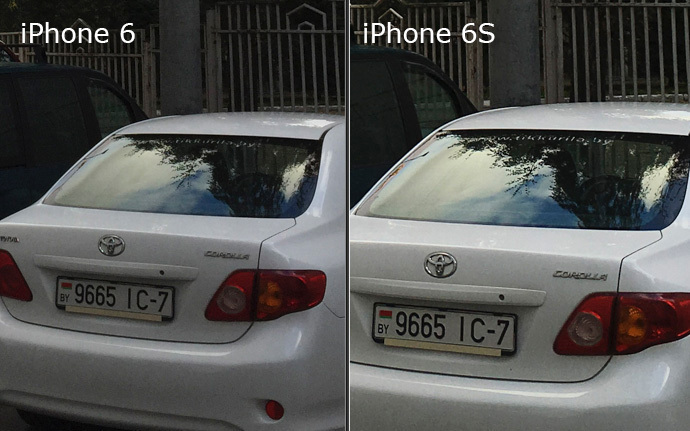 Apple  iPhone 6 и 6s-пример фото сравнение