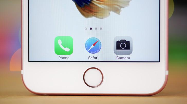 Apple  iPhone 6s Rose Gold-фронтальная панель низ экрана