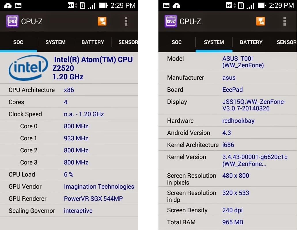 Asus Zenfone 4-информация