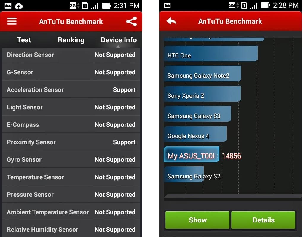 Asus Zenfone 4- бэнчмарк тест