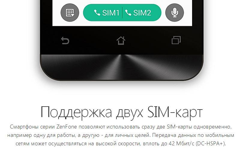 Asus Zenfone 4-две SIM-карты
