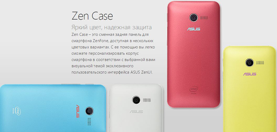 Asus Zenfone 4-панель Zen Case