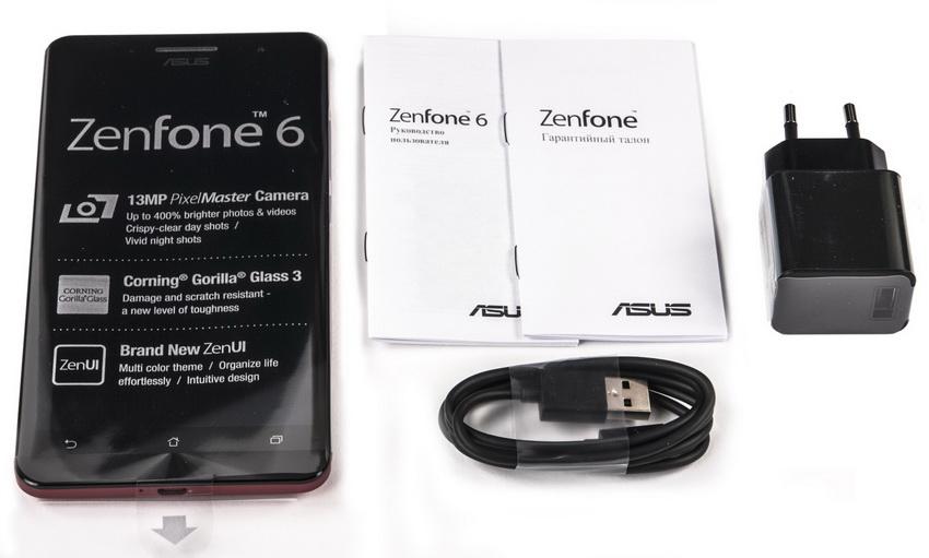 Asus Zenfone 6 A600CG-комплект поставки