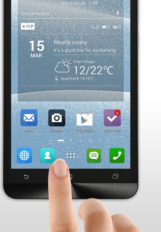 Asus Zenfone 6 A600CG-сенсорный интерфейс