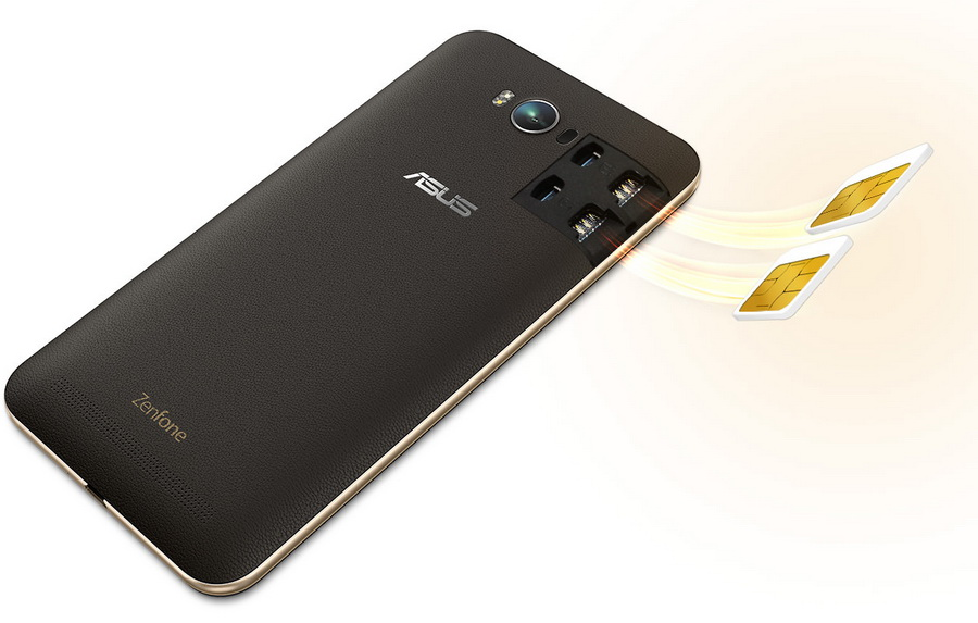 Asus Zenfone Max ZC550KL-Поддержка двух SIM-карт