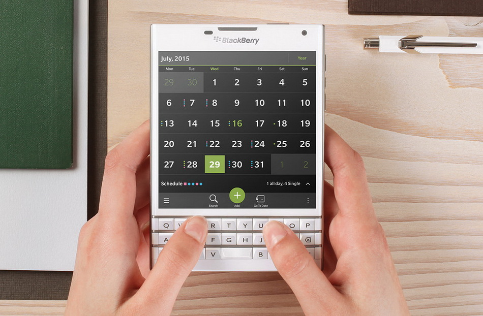 BlackBerry Passport White-QWERTY-клавиатура