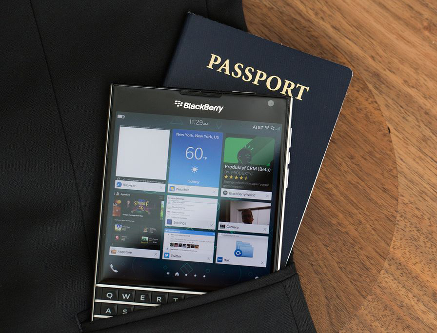 BlackBerry Passport-и паспорт