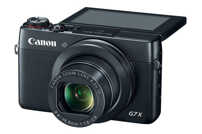 Canon PowerShot G7 X-вид спереди откидной экран