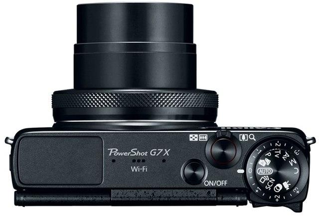 Canon PowerShot G7 X-вид сверху