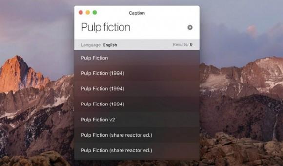 Caption - утилита для Mac, предназначенная для поиска субтитров