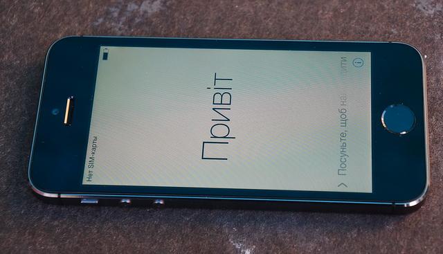 iPhone 5S вид спереди