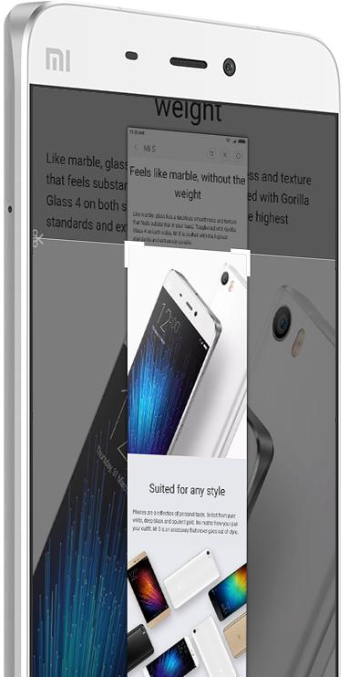 Делаем скриншоты в прошивке MIUI на Xiaomi – Длинный скриншот