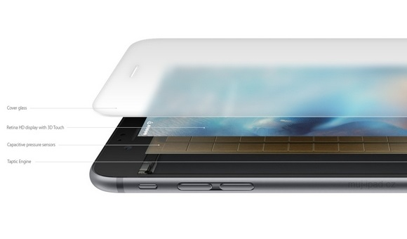 Дисплей 3D Touch в iPhone 6S состоит из 8 слоев - главное фото