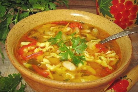 Дзяма - Закарпатский суп с фасолью