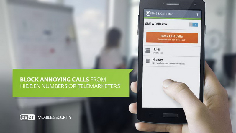 ESET Mobile Security - Фильтрация вызовов и СМС