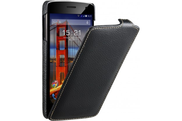 Fly IQ4503 Flip PU leather Black-чехол