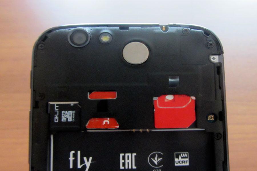 Fly IQ459 - Под задней крышкой
