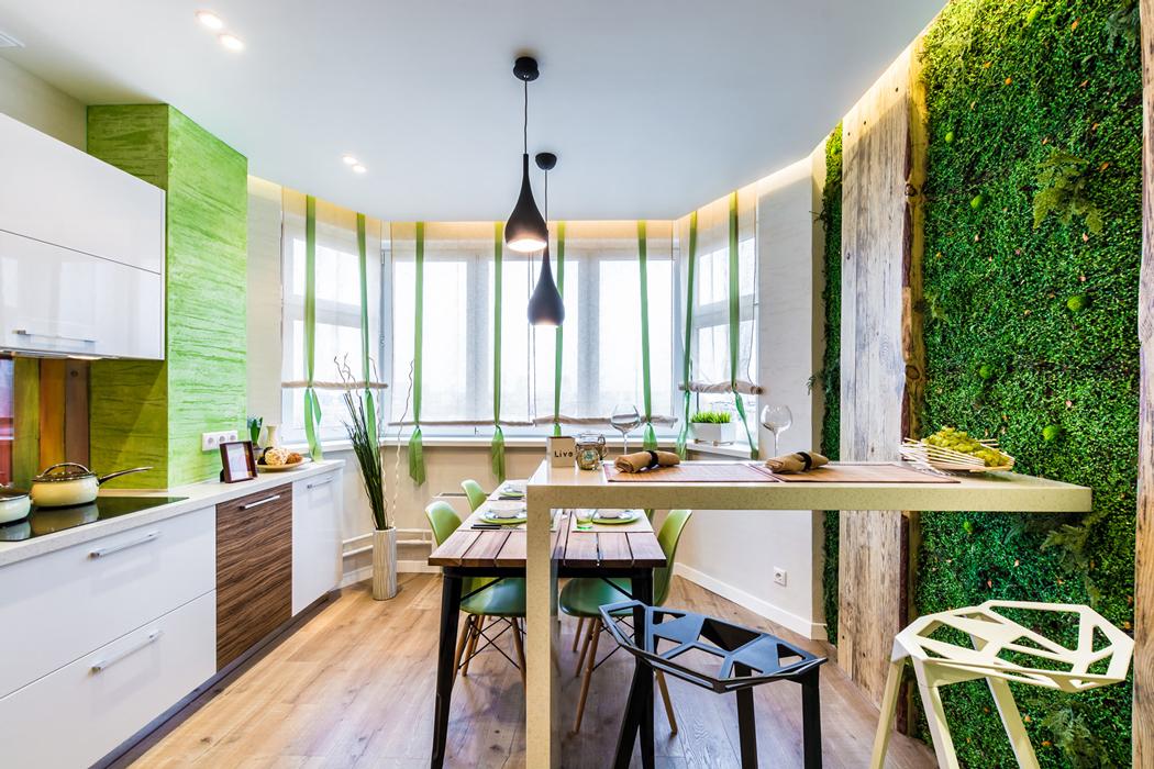 Дизайн кухни оформление стен