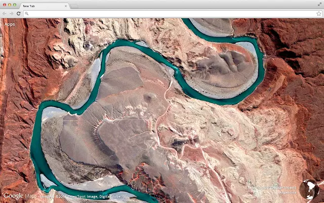 Google Chrome - расширение Earth View form Google Maps