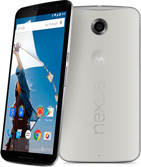 Google Nexus 6 - светлый корпус