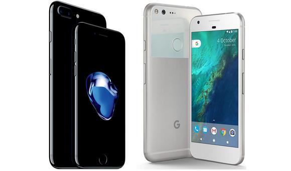 Битва титанов Google Pixel XL против iPhone 7 Plus