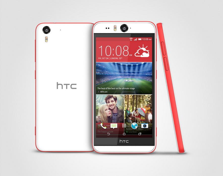 HTC Desire Eye-экран задняя панель и вид сбоку