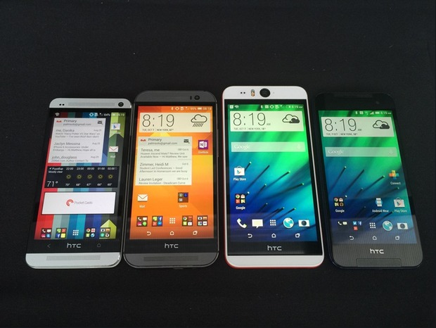 HTC One M7 One M8 Desire Eye and Butterfly 2-фронтальная сторона