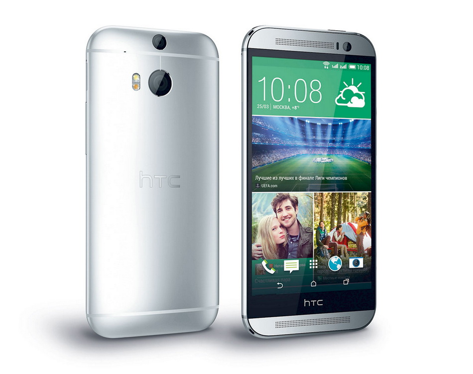 HTC One (M8) Dual Sim Silver-экран и задняя панель