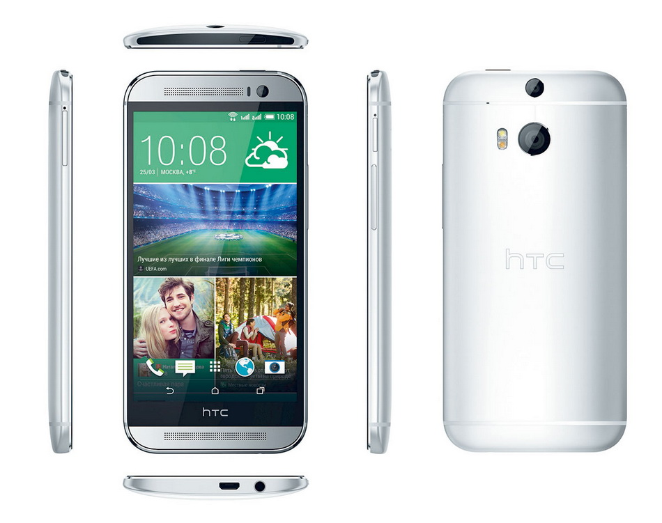 HTC One (M8) Dual Sim Silver-все ракурсы