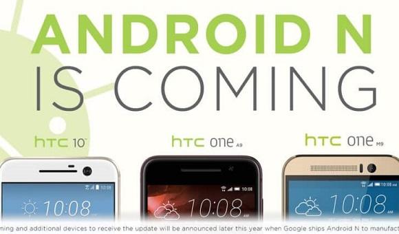 HTC подтвердила, что HTC 10, One A9 и One M9 обновятся до Android N