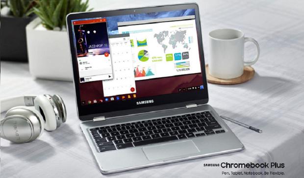 Хромбуки-трансформеры Chromebook Plus и Pro от Samsung с доступом к Google Play