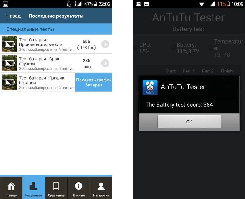 Huawei Ascend G6-U10-автономная работа скриншот