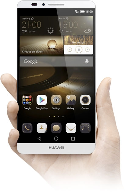 Huawei Ascend Mate 7-в руке