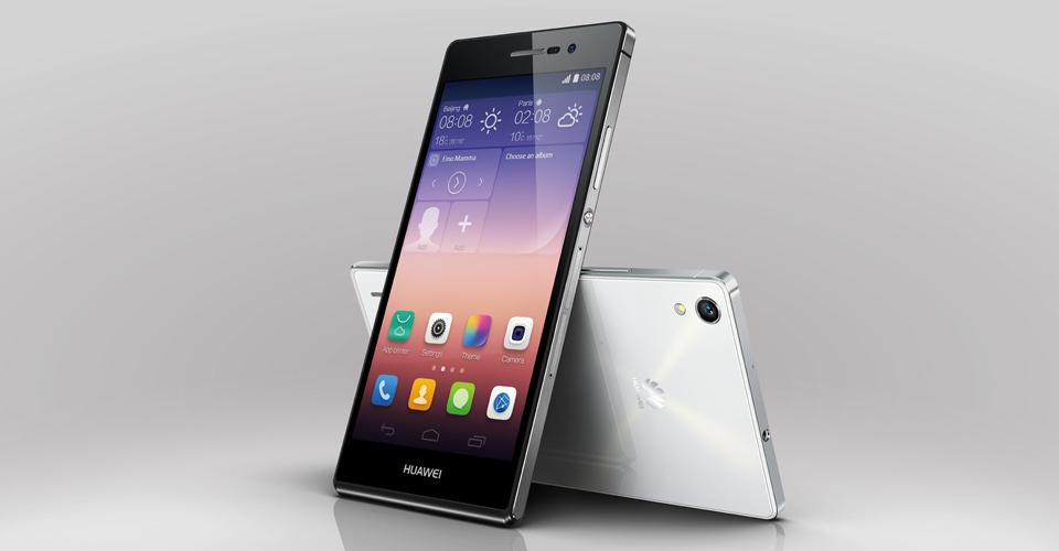 Huawei Ascend P7- два ракурса ракурса