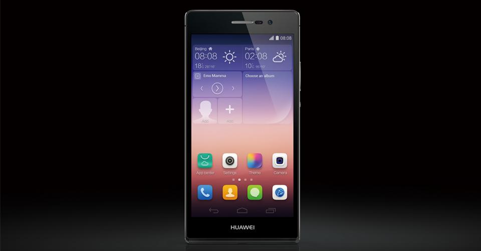 Huawei Ascend P7 Black- экран