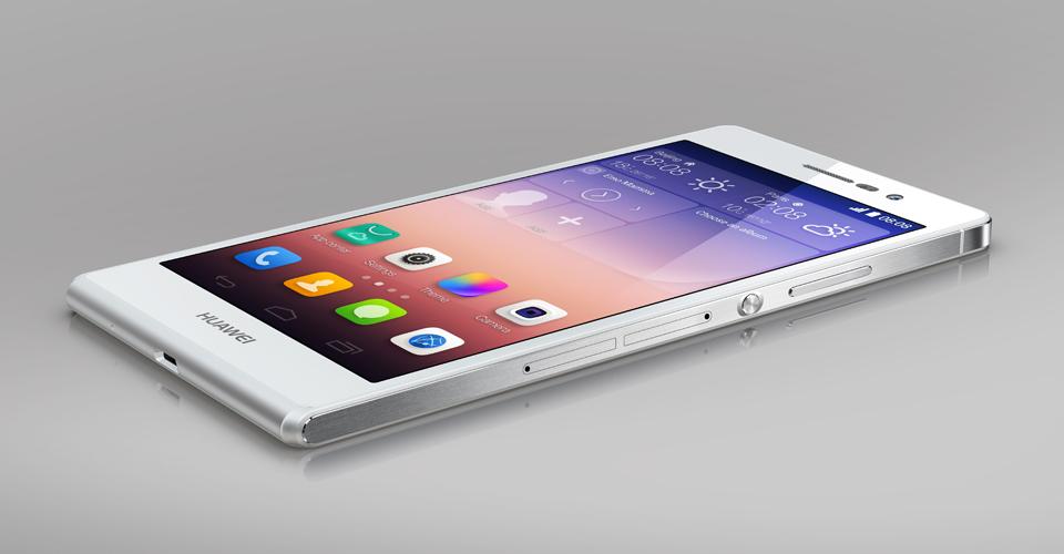 Huawei Ascend P7 White- экран