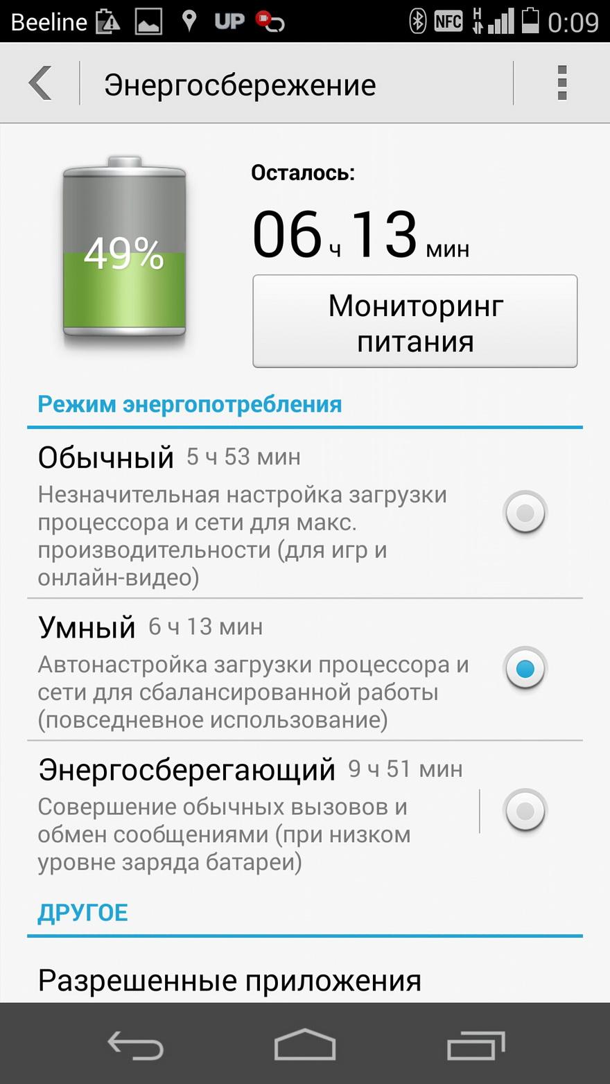 Huawei Ascend P7-энергосбережение