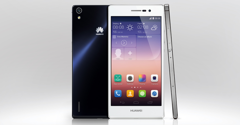 Huawei Ascend P7-три ракурса