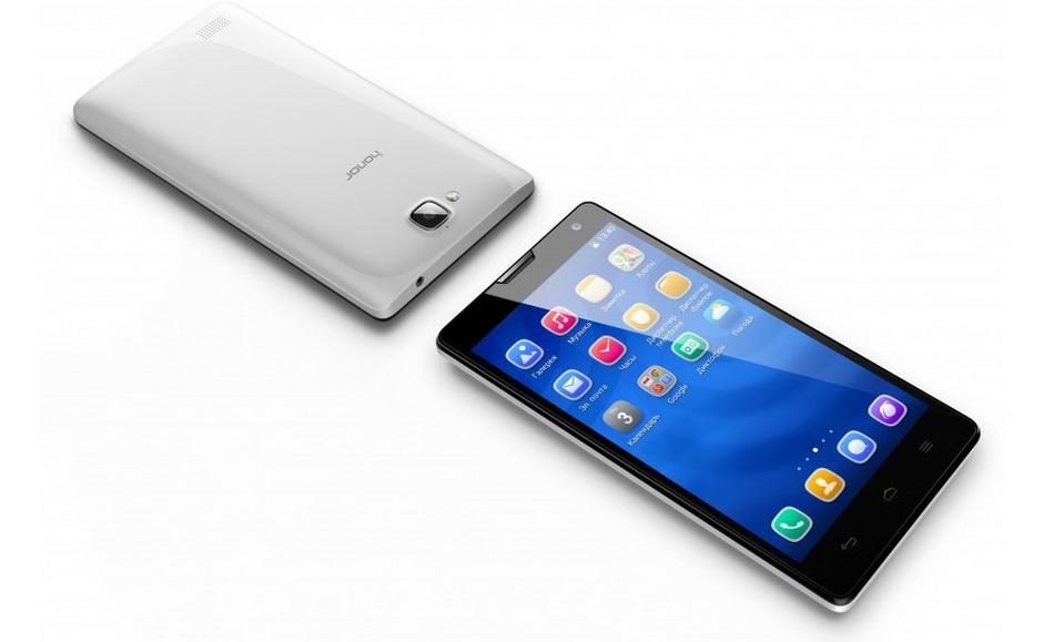 Huawei Honor 3C White-два ракурса