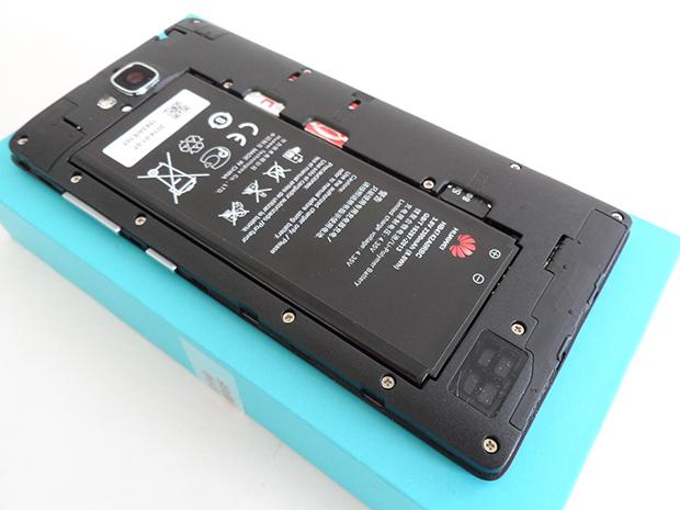 Huawei Honor 3C-под задней крышкой