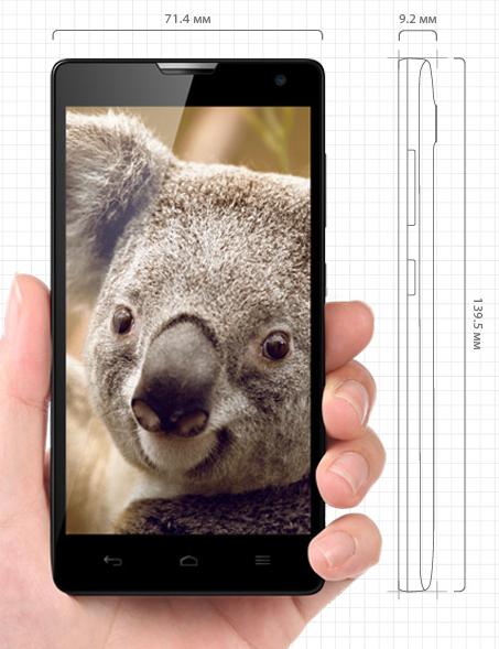 Huawei Honor 3C-размеры корпуса