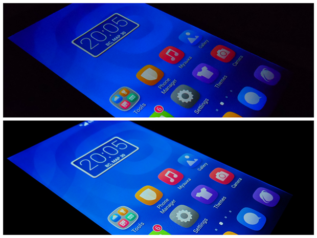 Huawei Honor 3C-тест экрана