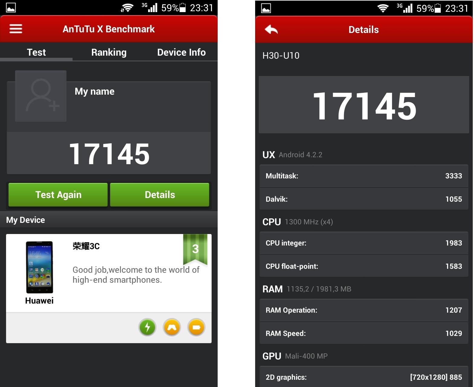 Huawei Honor 3C-тесты производительности